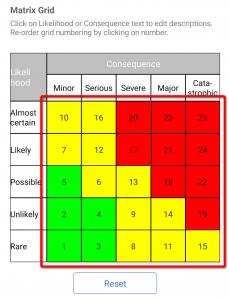 Matrix grid numbering