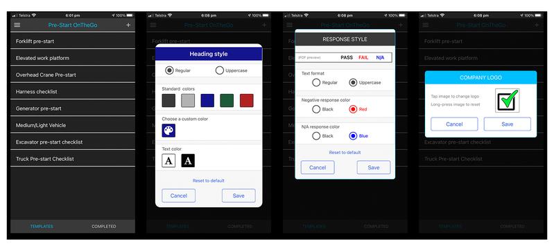 Customisation screens image